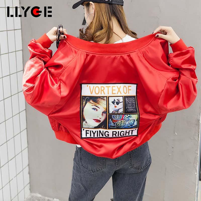 LLYGE Baseball CoatWomen Jackets Summer Spring Womens Basic Jacket 2018 New Fashion Windbreaker Female High Quality Outwear