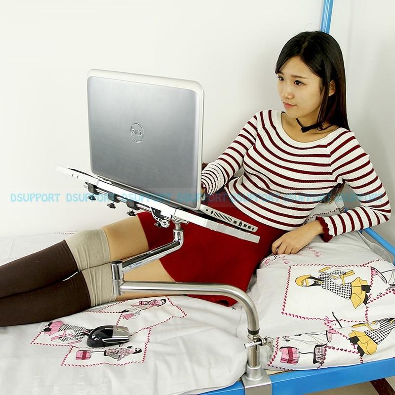 OK051 Bedside Clamping Lazy Laptop Desk Holder with USB Fan Keyboard Mount Holder+ Mouse Pad Mouse Mat