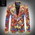 2017new продукт Завод прямых продаж цена luxur вельвет текстильной печати знаменитый красный блейзер тонкий костюм зимняя куртка размер M-3XL