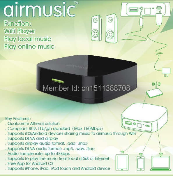 airplay DLNA music radio receiver airmusic wifi music wifi