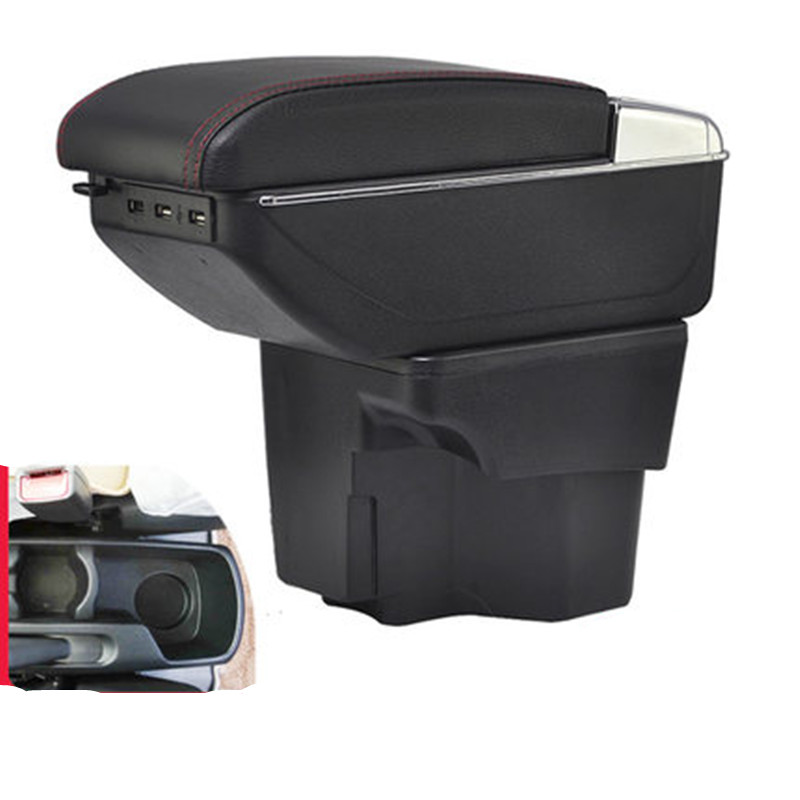 For KIA Rio/rio 3 armrest box central Store content box with cup holder products interior car styling accessory 2011 2016