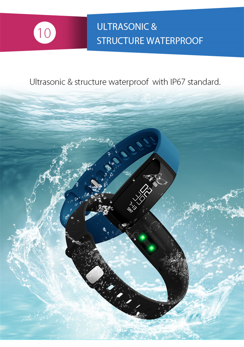 Smart Bracelet Bluetooth Smart Band V07 Watches Blood Pressure Heart Rate Monitor Pedometer Fintess Tracker SMS Call Reminder 14
