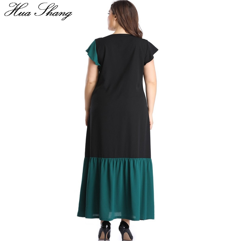 Maxi Dress Chiffon Women Summer O Neck Short Sleeve Multicolor Green Long Dress 5XL Plus Size Ladies Tunic Beach Dresses