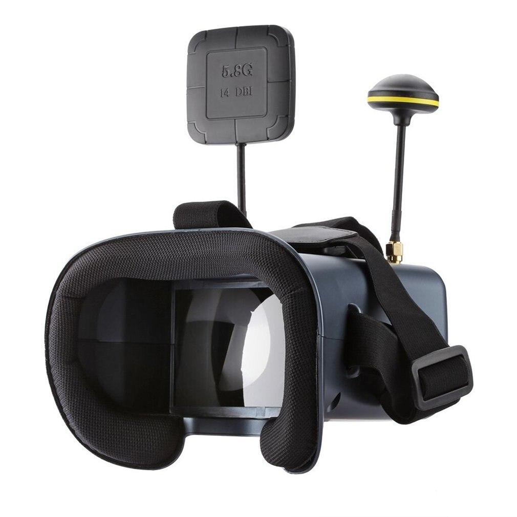 LS-008D 5.8G FPV VR Óculos Googles 40CH Com 2000mA DVR Bateria Diversidade Para Modelo RC de Alta Qualidade 92% Transparente lente Passatempo