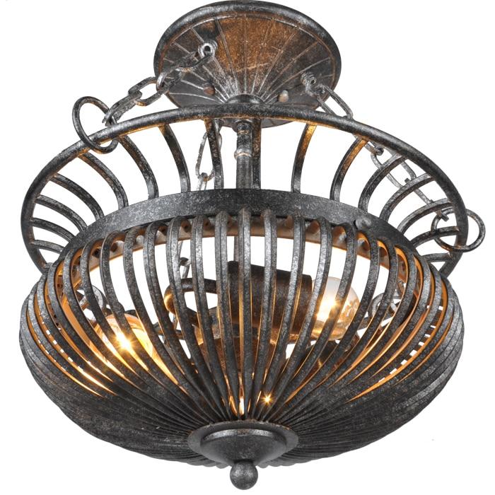 Beautiful Cafe light retro iron ceiling lamp bedroom study lamp European style antique village decoration lamp ya72929
