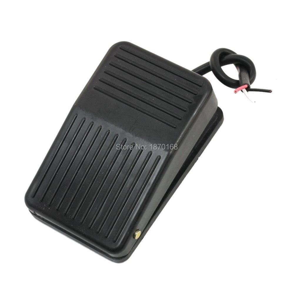 FS-1 AC 220V 10A 1 NO 1 NC SPDT sesaat kaki kontroler, Pedal saklar W 13 cm kabel