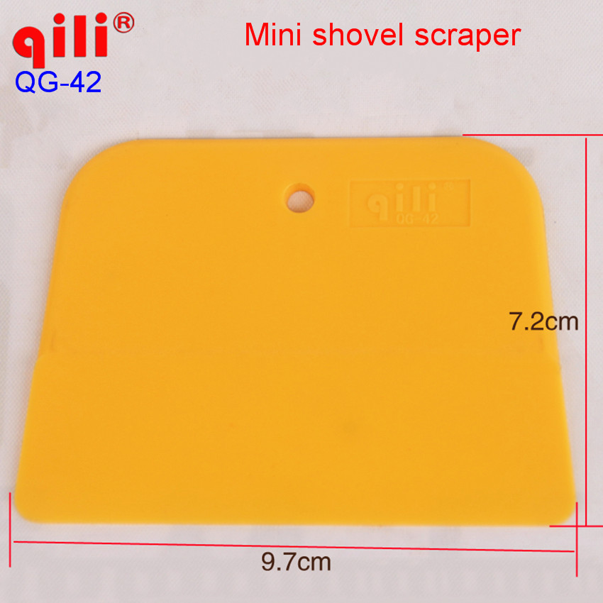 1000 pcs DHL free mini shovel scraper squeegee Protective film Auto Car Vehicle Snow Ice Removal Clean Tool Car decoration stick