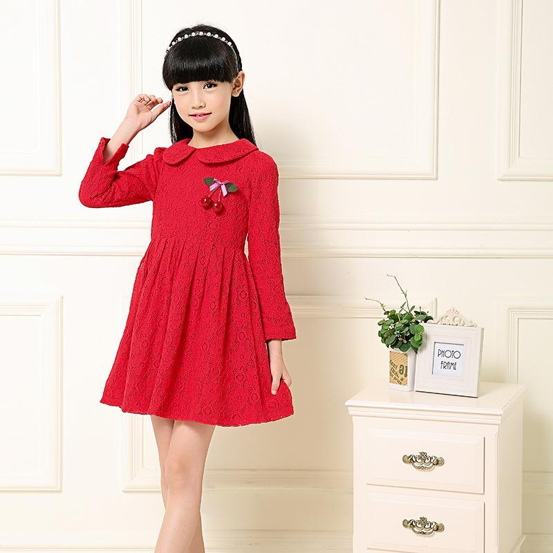 Summer Dress 2016 Dresses For Girls of 12 years Long sleeve Size Princess Dress Teenagers Kids Clothes summer dress 2016 dresses for girls of 12 years sleeveless printed big size princess dress teenagers kids clothes