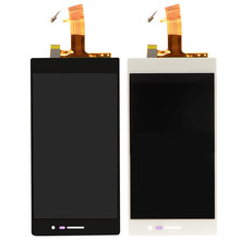 1 PC New Front Full LCD Display + Touch Screen Glass Panel For Huawei Ascend P7 Black White VAC87 T18 0.4