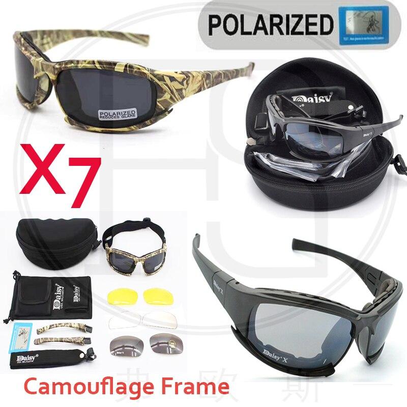 Prix pour Daisy X7 C5 lunettes de Soleil Polarisées Tactique Airsoft Sport 4 Lentilles des Lunettes de Tir Polarisées Lunettes De Pêche En Plein Air Lunettes de Sport
