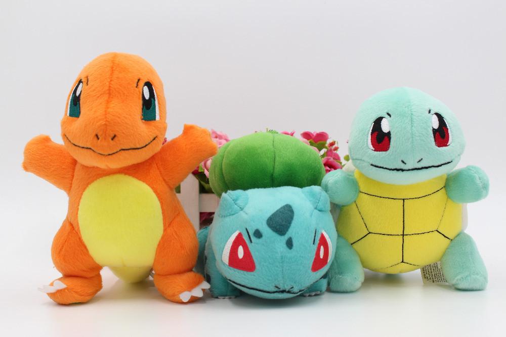 "5/"" Squirtle # 007 Cute Plush Dolls Toys Stuffed Animals Pokemon 2011 Version 1"