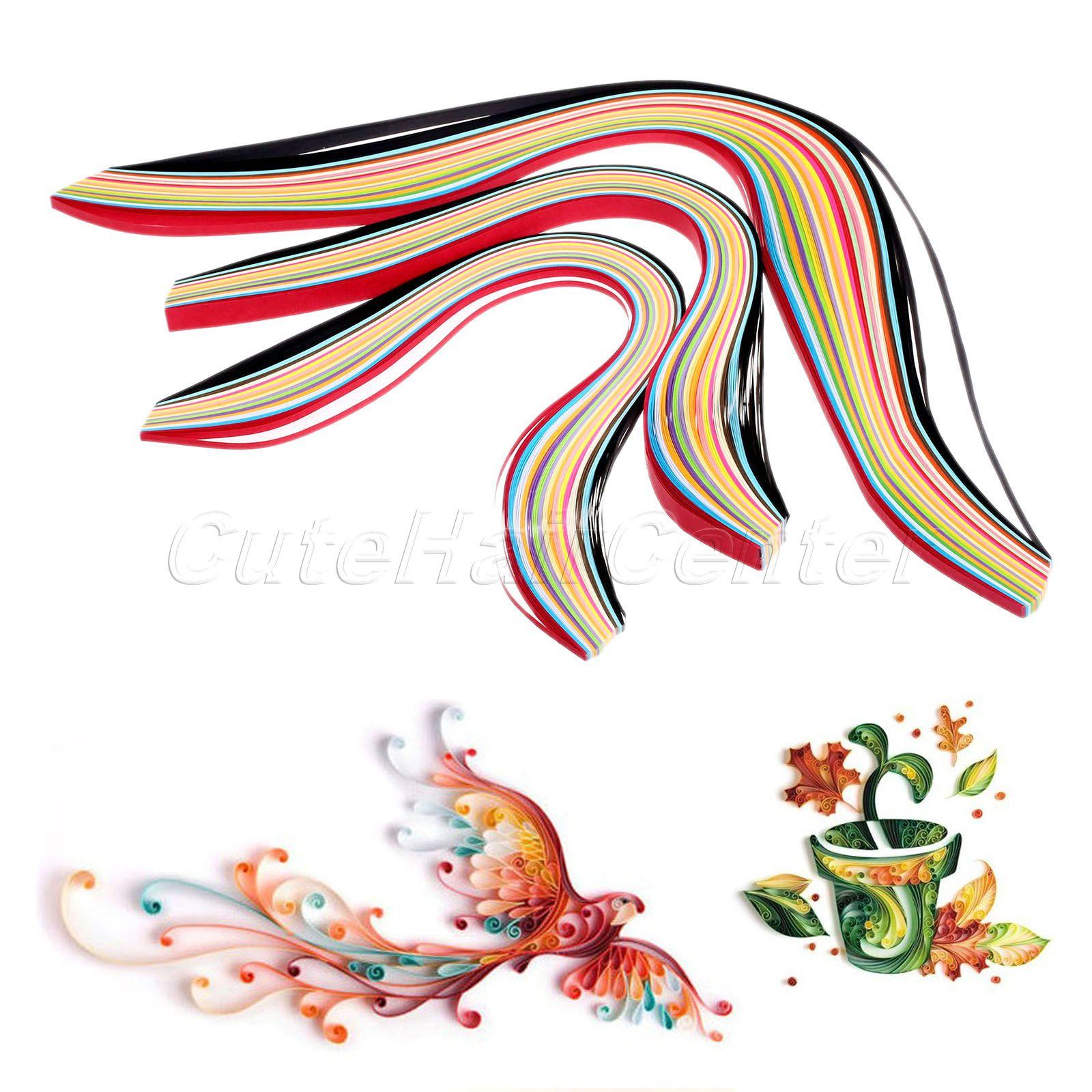 Scrapbook paper canada - New Hot 160pcs Mixed Colors Quilling Paper Origami Papercraft Diy Craft Scrapbooking Paper Crafts Assorted Color