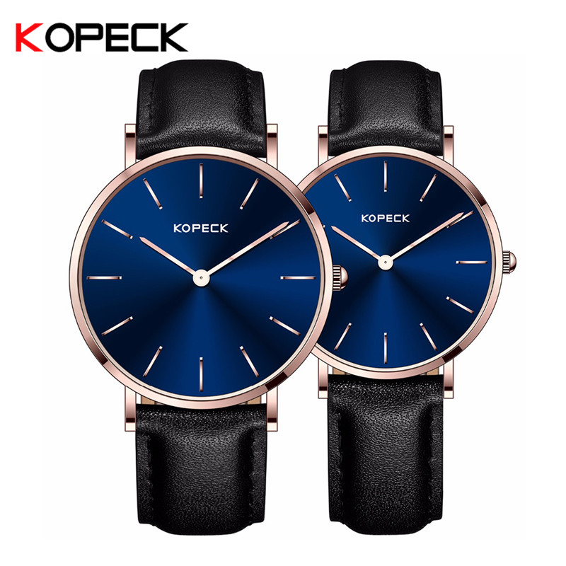 Kopeck New Women Watch Fashion Sport Genuine Leather Couple Wrist Watch Lover Men Ladies Luxury Dress Quartz Business Watch keep in touch couple watches for lovers luminous luxury quartz men and women lover watch fashion calendar dress wristwatches