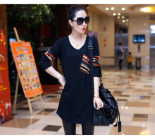Pure Cotton Long Style T Shirt For Autumn Maternity Clothes Pregnancy Wear Plus size