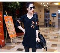 Pure Cotton Long Style T Shirt For Autumn Maternity Clothes Pregnancy Wear Plus size
