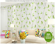 beibehang papier peint Pastoral green small fresh non-woven background wall art wallpaper hudas beauty papel de parede