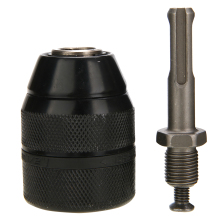 1Pc Keyless Drill Chuck Metal & Plastic Heavy Duty 13mm 1/2-20UNF Keyless Drill Chuck With SDS Adaptor Hand Tool Mayitr heavy duty professional keyless drill chuck impact with 0 8 10mm with 3 8 24unf sds adaptor rod power tool accessories