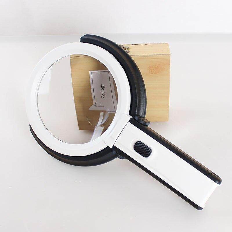 AOMEKIE sulankstomas didintuvas su nešiojamu LED apšvietimu / - Matavimo prietaisai - Nuotrauka 3