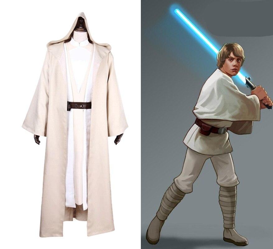 Erwachsene Star Wars Luke Skywalker Kostüm Jedi Cosplay Cape vollen satz Halloween Männer Rolle Spielen