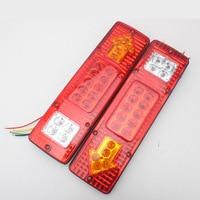 2 STÜCKE 12 V 24 V 19 LED Rückleuchten Kunststoff Hinten Drehen Signal Licht Lkw-anhänger Lkw Boote Stop Hinten Schwanz Anzeige licht
