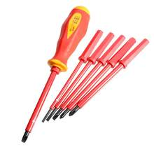 7pcs Insulated Screwdriver Set Electrician Dedicated Slotted Screw Driver Repair Tools Set with High Voltage Resistance(China)