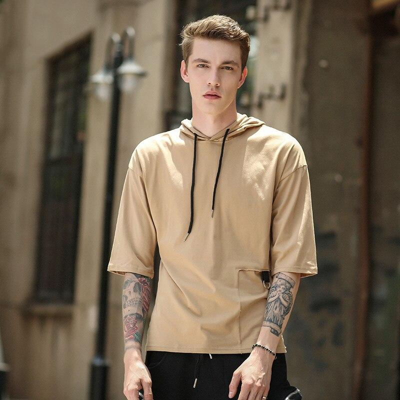 Casual autumn hip hop hoodie sweatshirt men streetwear pullover Thin tracksuit mens cotton 2018 Slim white black sportswear male
