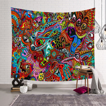 CAMMITEVER Abstract Colorful Painting Large Tapestry Wall Hanging Beach Towel Polyester Thin Blanket Yoga Shawl Mat