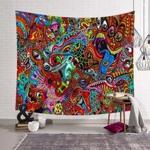 Cammitever抽象的なカラフルな絵画大タペストリー壁掛けビーチタオルポリエステル薄い毛布ヨガショールマット