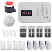 GSM Inalámbrico de Intercomunicación 120 Zonas Sistema de Alarma de Seguridad Antirrobo Auto Voice Dialer PIR Casa (HF-701-GSM-8)