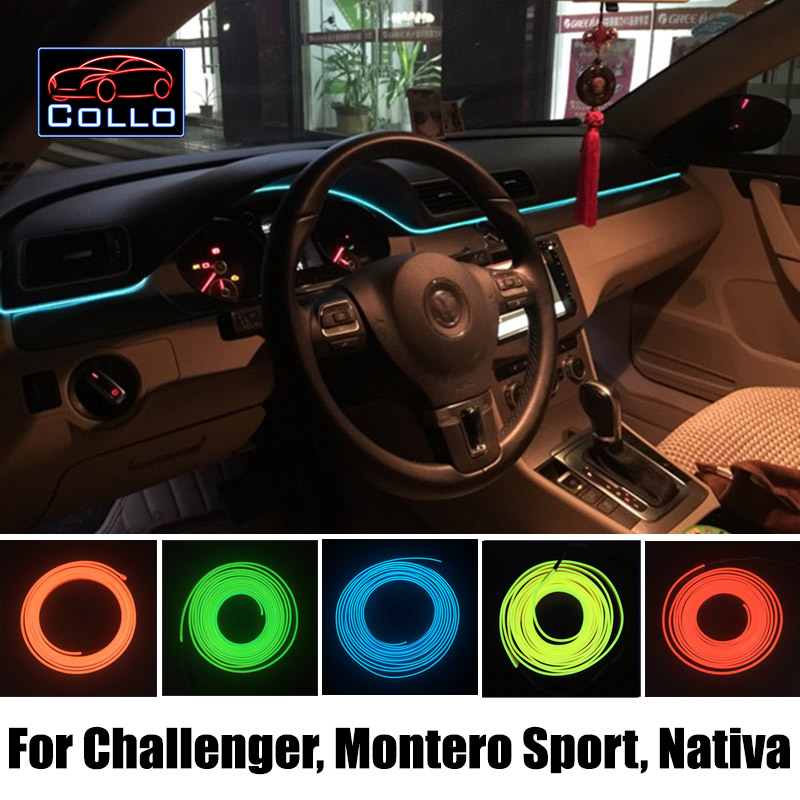 9 Meter El Wire Cold Light    For Mitsubishi Challenger