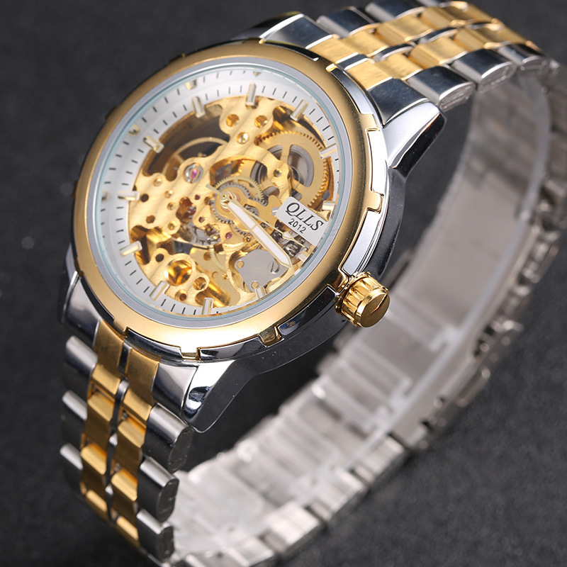 Male Mechanical Watch Automatic Hollow Skeleton Steel Male Clock Watch Tourbillon Men Sports Waterproof Luminous Wrist купить