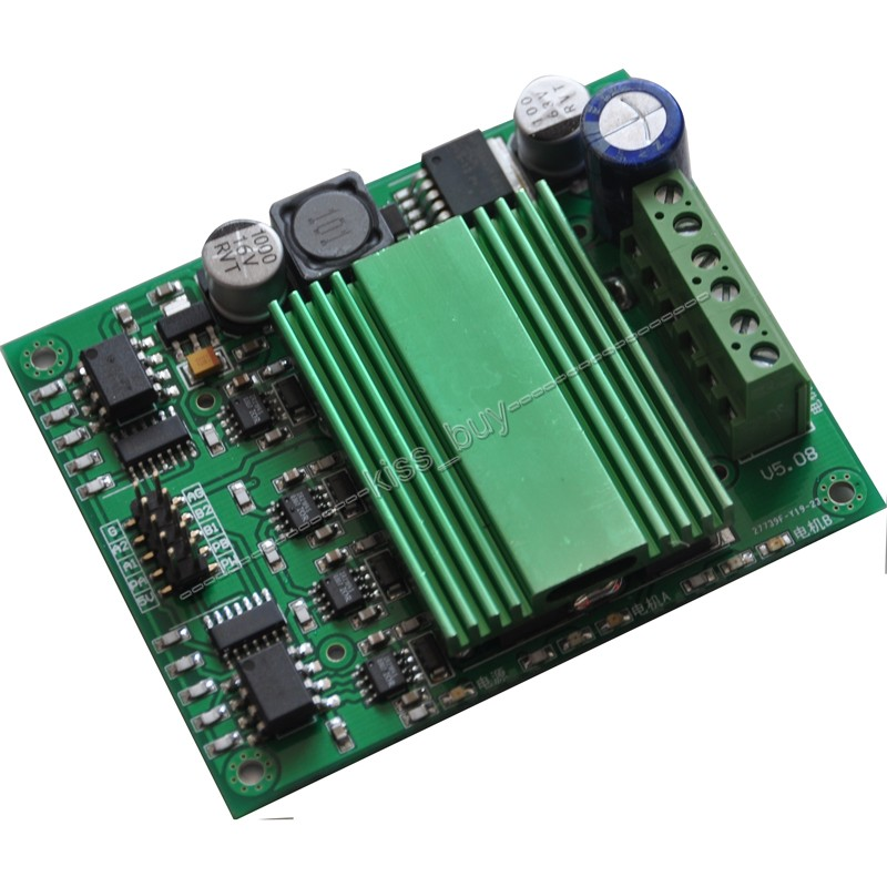 все цены на  Tracking number 100A DC motor drive Module High Power motor speed Control Dual Channel H-bridge optocoupler isolation  онлайн