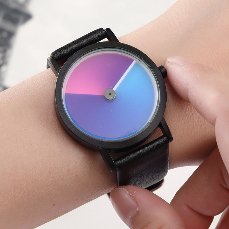 Unique Minimalist Creative Watch Geek Swirl New Fashion Design Brand Luxury Wrist Watch For Men Women Simple Quartz Lovers Watch