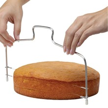 Adjustable 2-Wire Layer Cake Cutter Leveler Stainless Steel  Cake Bread Cutter Cutting Bread Knife Splitter Toast Slicer tr350 stainless steel big capacity commercial bread slicer 220v 120w 1pc cutting bread machine bakery equipment bread cutter