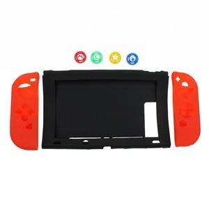 Image 2 - TingDong dla konsoli Nintendo przełącznik przypadku NS miękkie silikonowe pokrywa ochronna skóry dla Nintendo przełącznik konsoli i Joy con