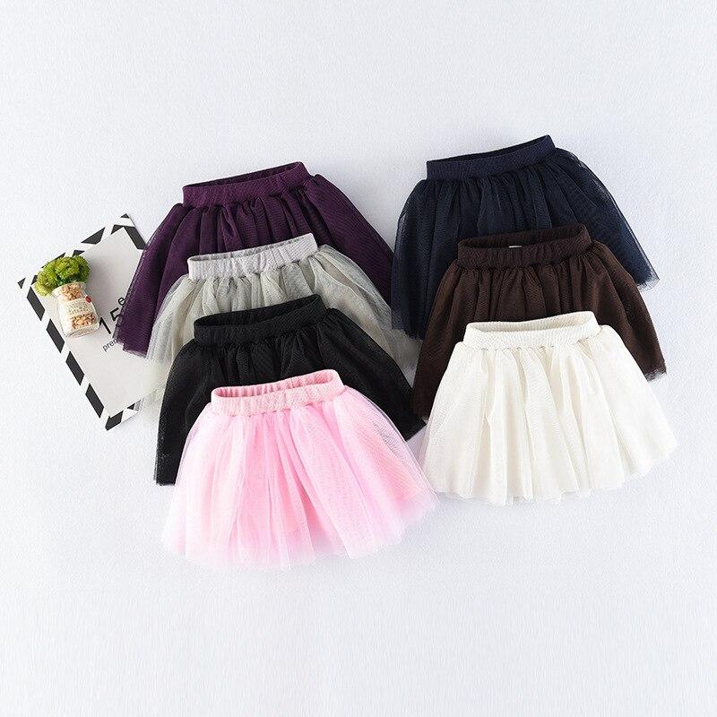 e1fab76c1b Falda de tutú chica 2018 ropa de niños de verano princesa suave tul faldas  niñas precioso vestido ropa de niños ropa de bebé