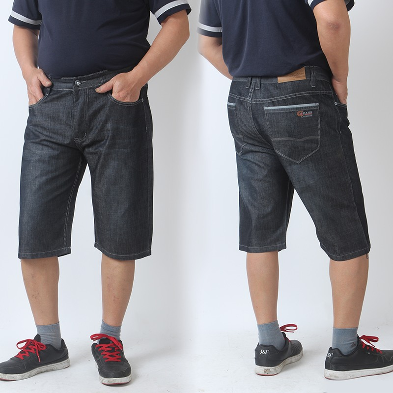 Aliexpress.com : Buy Free Shipping Men size plus black jeans fat