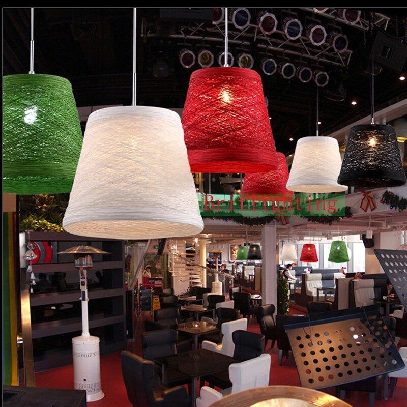 Multi цвет подвесной светильник современные Красный/черный/белый столовая подвесной светильник освещения краткое моды одной головы подвеска…