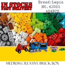 LEPIN Classic duplo 42001 484PCS Medium Creative Building Blocks Bricks enlighten DIY font b toys b