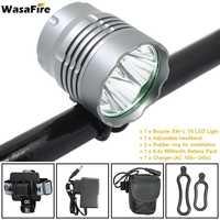 WasaFire 4* T6 LED Bike Light Bicycle Cycling Lights 8000lm Flashlight Handlamp Charger 9600mAh Battery Pack Frontlight Lamp