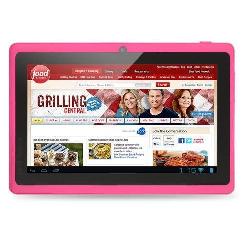 Prix pour 7 pouce pas cher et simple tablet pc android 4.4 google a33 quad-core bluetooth wifi flashtablet pc