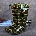 2016 highwinter botas para la pesca botas hombre PVC Lavado de camuflaje botas de pesca botas de lluvia de la moda de los hombres zapatos de trabajo botas bot
