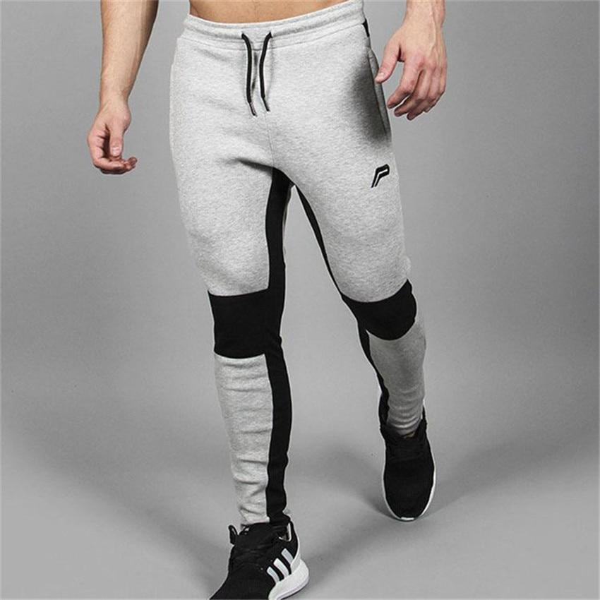 2018 Der Männer Neue Beiläufige Atmungsaktive Baumwolle Herren Hosen Hohe Elastische Engen Nähten Männer Hosen Fashion Jogger Marke Sportswear