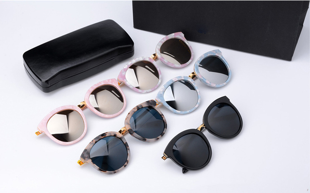 GENTLE MAYA Sunglasses Lovesome One round Sunglasses Vintage Women Brand Design With V Logo And Original Box Oculos De Sol