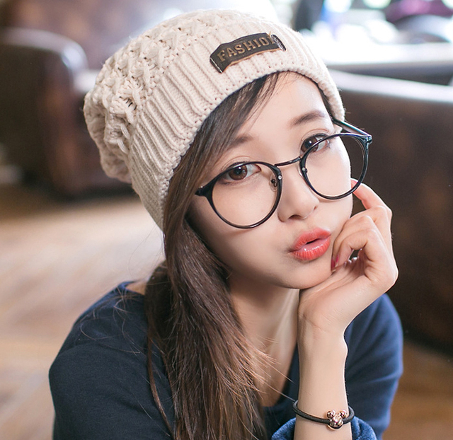 New 2014 winter hat brand for women and men warm knitted winter hats caps free shipping