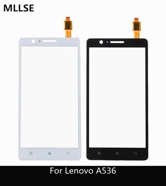 "5.0 ""đối với Lenovo A536 Touch Panel Cảm Ứng Ban Đầu Screen Digitizer Front Glass Sensor Đối Với Lenovo A 536 Màn Hình Cảm Ứng + 3 m sticker"