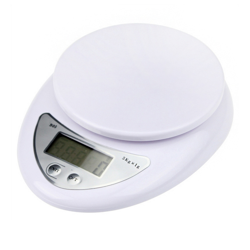 Kitchen Scales Genteel 5kg/1g Portable Digital Scale Led Electronic Scales Postal Food Balance Measuring Weight Kitchen Led Electronic Scales
