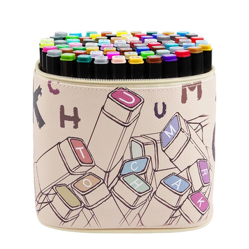 30/40/60/80 Set Colors Professional Sketch Color Marker Pen s