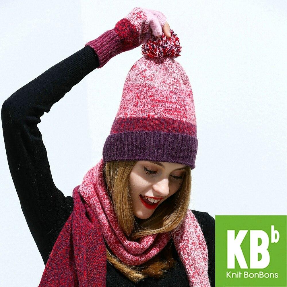 f7cc9d0fbb49da 2018 KBB Spring 3 Colors Women Men Designer Comfy Lambswool Wool Yarn Knit  Pom Pom Winter Hat Beanie Female Cap-in Skullies & Beanies from Apparel ...