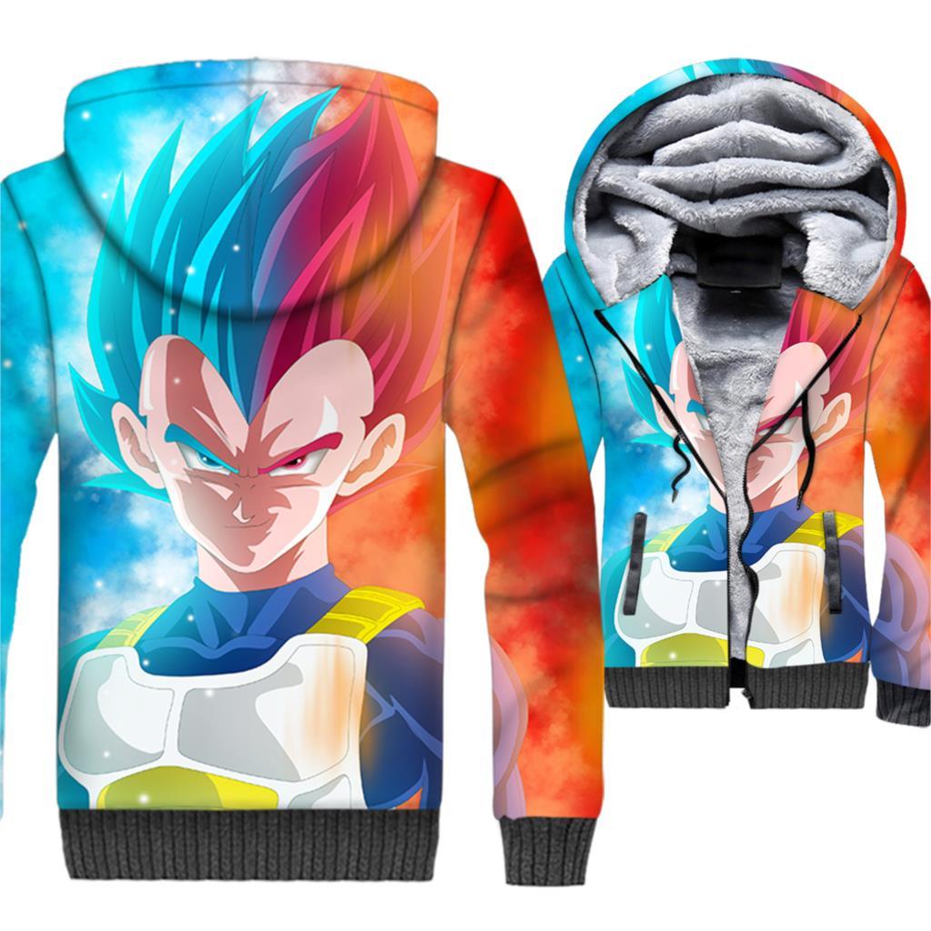 Fashion Harajuku Mini Anime Dragon Ball 3d Printed Mens Jackets Hip Hop Sweatshirts Winter Zipper Hoodies Streetwear Tracksuits Men's Clothing
